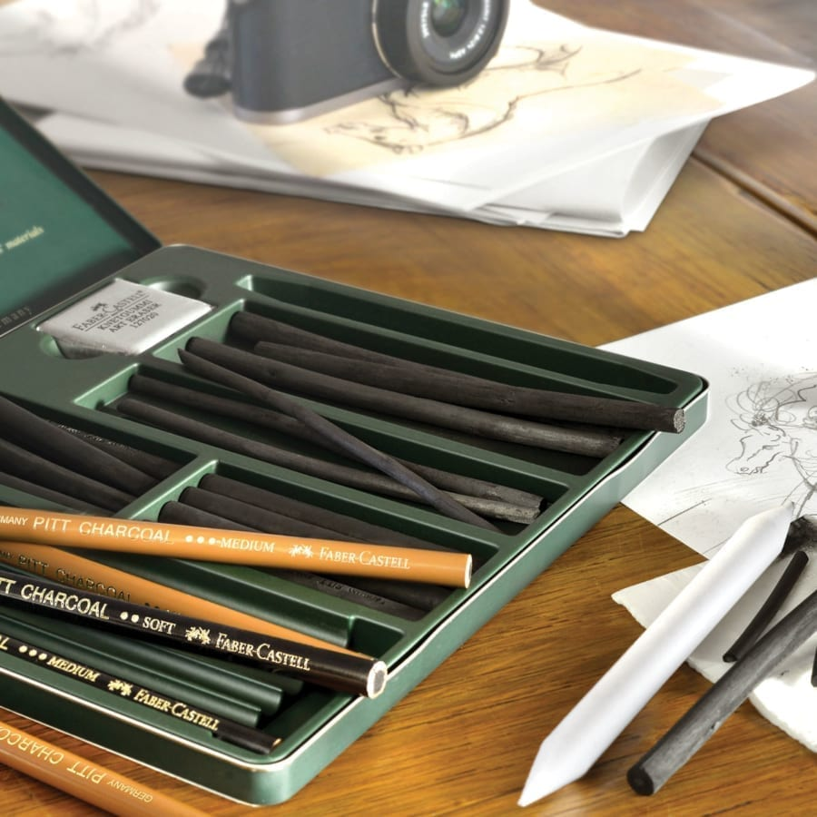 FAB Castell Charcoal Pencils PIC