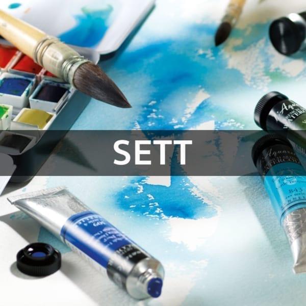 Akvarellmaling Sett